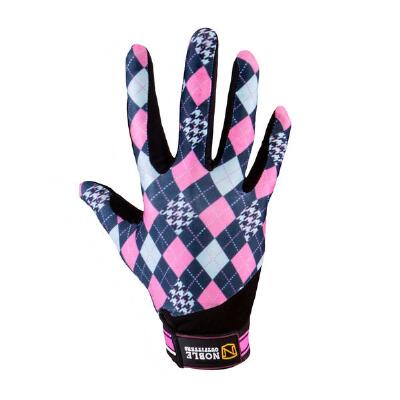 Noble Outfitters French Pink Argyle Perfect Fit Gloves