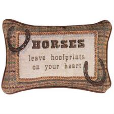 Horses Leave Hoofprints on Your Heart Throw Pillow - TB