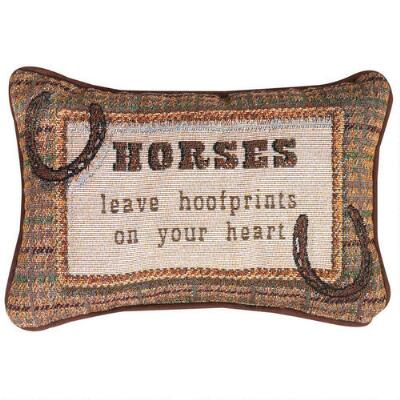 Horses Leave Hoofprints on Your Heart Throw Pillow