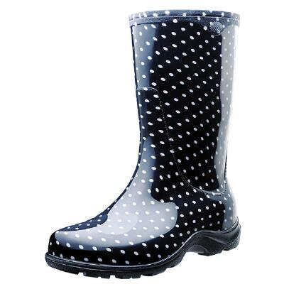 Polka Dot Ladies Tall Rubber Rubber Boot