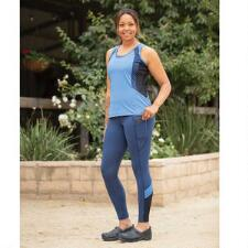 Kerrits Free Style Pocket Knee Patch Ladies Tight - Indigo Bluebird - TB