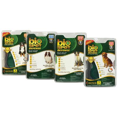 Bio Spot Defense Flea And Tick Spot On For Dogs 6 Month