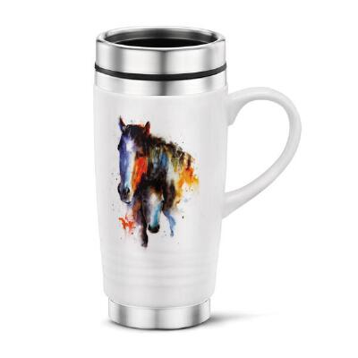 Watercolor Mothers Love Mare & Foal Travel Mug