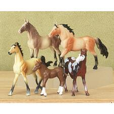 Horse Figure Play Set Five Figures - TB