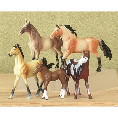 Horse Figure Play Set Five Figures