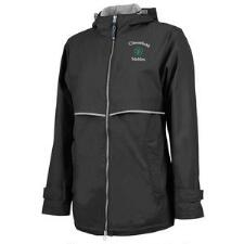 Womens New Englander Rain Jacket Left Chest Embroidery - TB