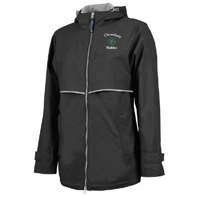 Womens New Englander Rain Jacket with Left Chest Embroidery