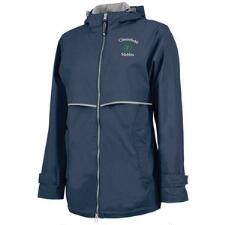 Womens New Englander Rain Jacket with Left Chest Embroidery - TB