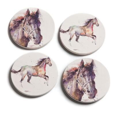 Watercolor Horse Coaster Set of 4