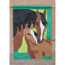 Mare and Foal 28 inch House Flag