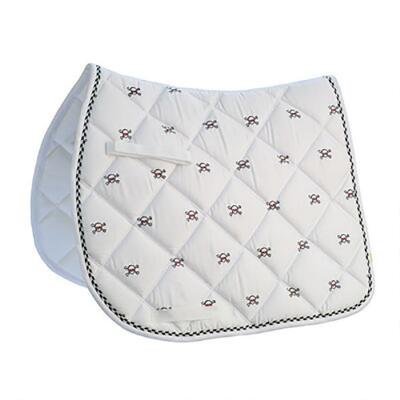 Embroidered Skull and Bones AP English Saddle Pad