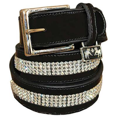 Leather Bling Ladies Belt