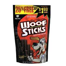PRO PAC Beef Flavored Woof Em Down Sticks