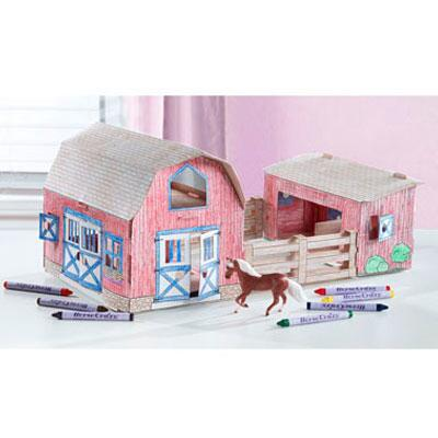 Breyer Stablemates Horse Crazy Create and Color Barn