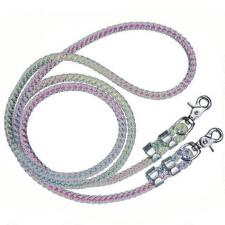 Tough 1 Clear Rubber Reins with Rainbow Core - TB