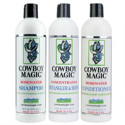 Cowboy Magic Detangler & Shine 16 oz Bath Set