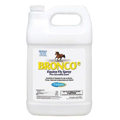 Farnam Bronco e Equine Fly Spray Plus Citronella Gallon