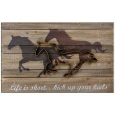 Life is Short Kick Up Your Heels Wall Sign - TB