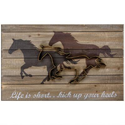 Life is Short Kick Up Your Heels Wall Sign