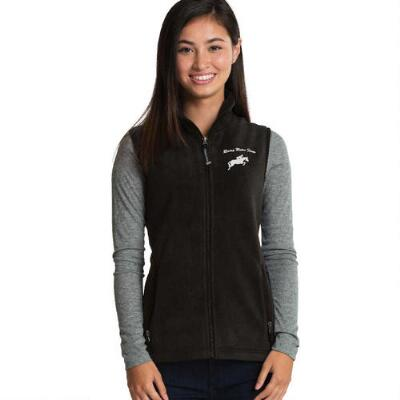 Custom Ladies Fleece Vest with Left Chest Embroidery