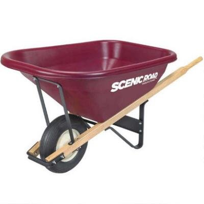 Wheelbarrow Single Wheel 7 Cu Ft
