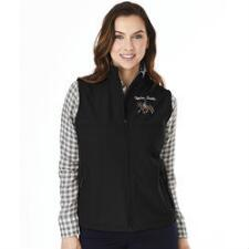 Ladies Soft Shell Vest with Custom Left Chest Embroidery - TB
