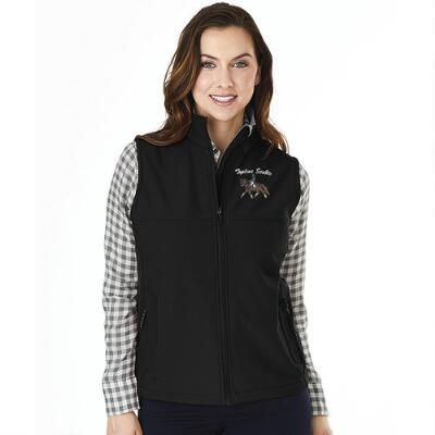 Ladies Soft Shell Vest with Custom Left Chest Embroidery
