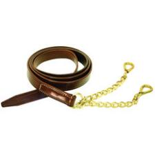 Walsh Leather Bit Lead with 9 Inch Brass Chains