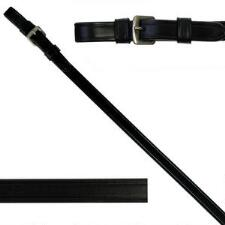 KL Select Red Barn Curb Reins 1/2 Inch Black - TB