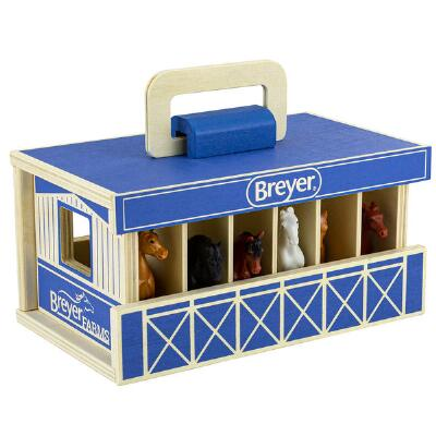 Breyer Farms Wooden Carry Along Stable