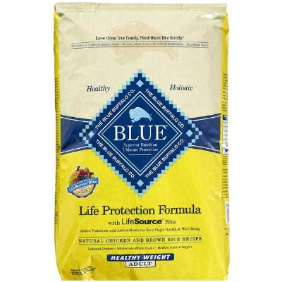 BLUE Life Protection Healthy Weight Chicken Brown Rice 15 lb