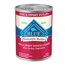 BLUE Homestyle Recipe Fish Sweet Potato Dinner 12.5 oz Can - TB
