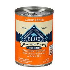 BLUE Homestyle Recipe Large Breed Chicken Dinner 12.5 oz Can - TB