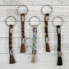 Cowboy Collectibles Braided Horse Hair Keychain - TB