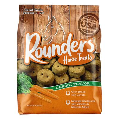 Blue Seal Rounders Carrot Horse Treats 30 oz