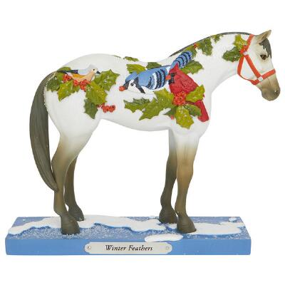 Painted Ponies Winter Feathers Statue