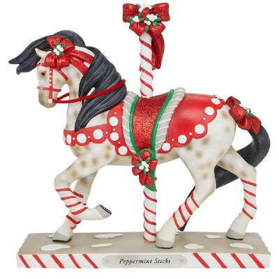 Painted Ponies Peppermint Sticks Statue