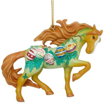 Painted Ponies Vintage Christmas Ornament