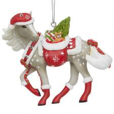 Painted Ponies Santas Little Helper Ornament - TB