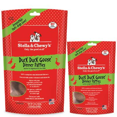 Stellas Duck Duck Goose Freeze Dried Patties