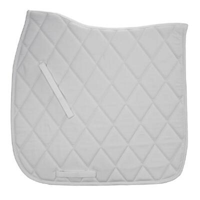 Diamond Quilted Contoured Spine White Dressage Schooling Pad