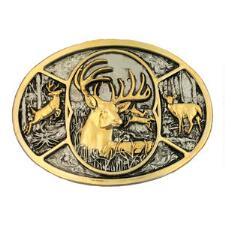 Two-Tone Deer Attitude Belt Buckle