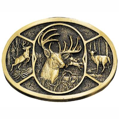 Montana Silversmiths Deer Attitude Belt Buckle