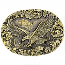 Montana Silversmiths Soaring Eagle Brass Heritage Attitude Belt Buckle - TB