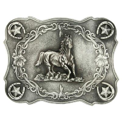 Running Horse Attitude Belt Buckle