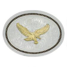 Montana Silversmiths Classics Golden Eagle Belt Buckle - TB