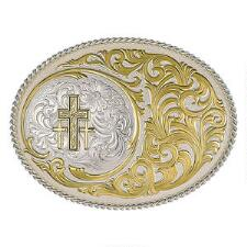 Wild Oasis Triple Cross Belt Buckle