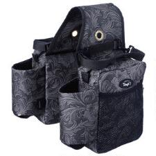 Tough 1 Printed Saddle Bag with Bottle Holders - TB