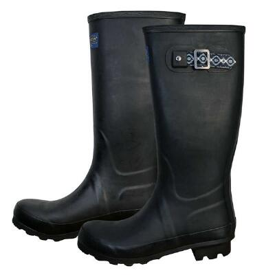 Pendleton Classic Black Solid Tall Ladies Rubber Boot