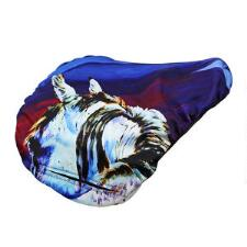Art of Riding Reversible English Saddle Cover - Rear View - TB